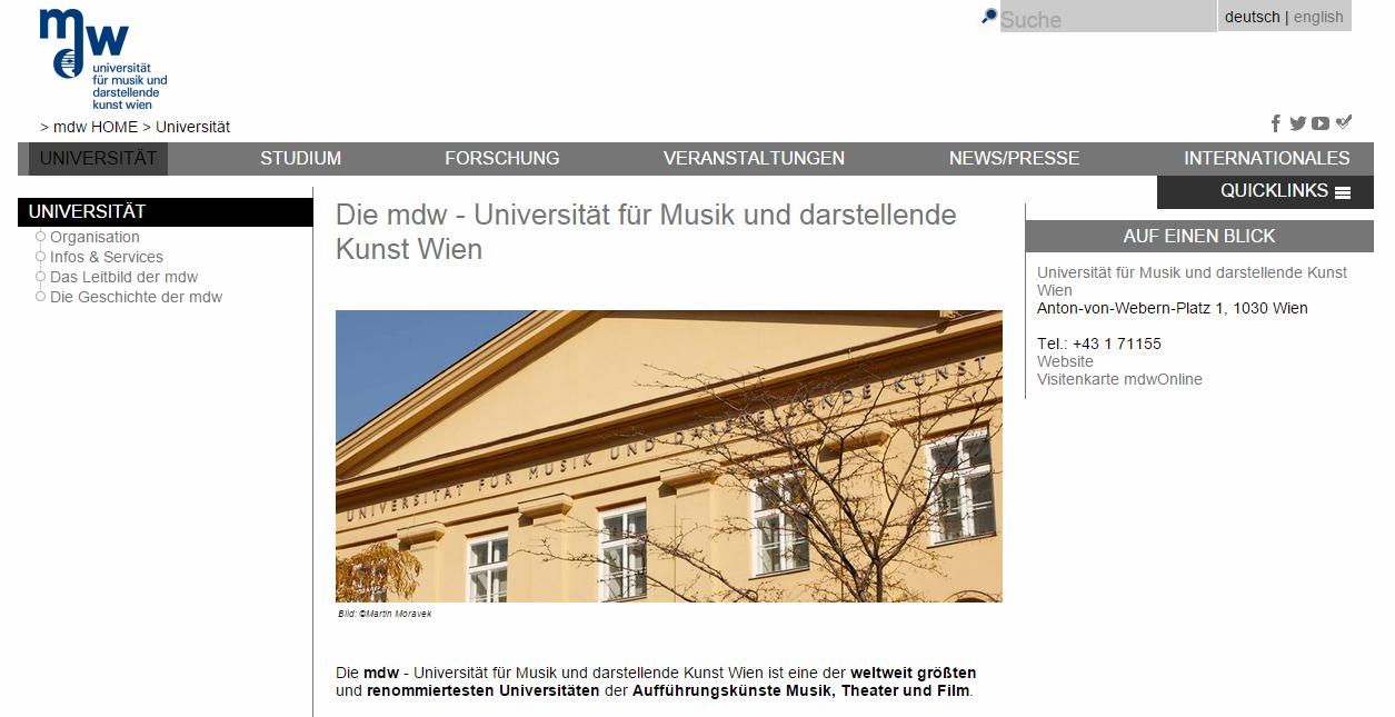 mdw Website