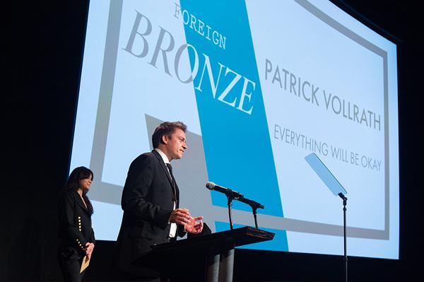 Patrick Vollrath Studentenoscar Bronze